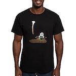 Cute Drip Guy Splashing in Pu Men's Fitted T-Shirt