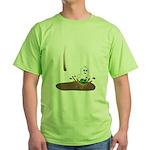 Cute Drip Guy Splashing in Pu Green T-Shirt