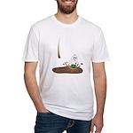 Cute Drip Guy Splashing in Pu Fitted T-Shirt