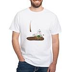 Cute Drip Guy Splashing in Pu White T-Shirt