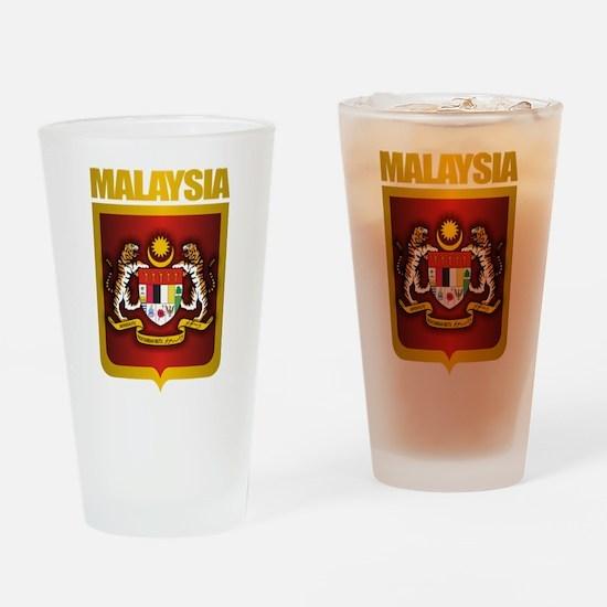 """Malaysia COA"" Drinking Glass"