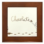 Cute Drip Guy Painting Chocol Framed Tile