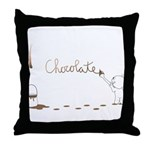 Cute Drip Guy Painting Chocol Throw Pillow