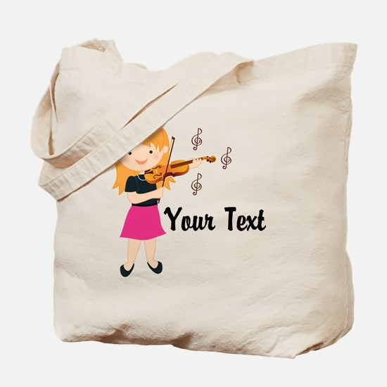 Personalized Violin Girl Tote Bag