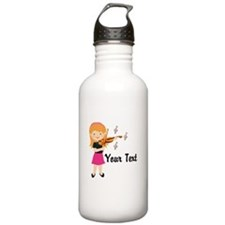 Personalized Violin Girl Stainless Water Bottle 1.