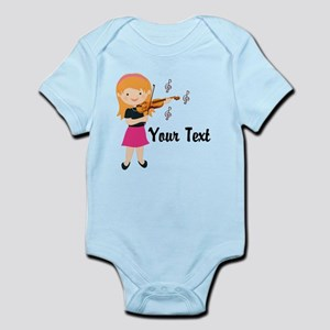 Personalized Violin Girl Infant Bodysuit