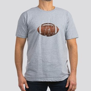 Football - Distressed Men's Fitted T-Shirt (dark)
