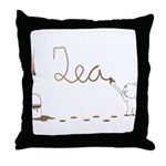 Cute Drip Guy Painting Tea Throw Pillow