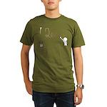 Cute Drip Guy Painting Tea Organic Men's T-Shirt (