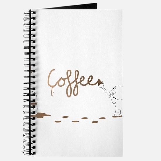 Cute Drip Guy Painting Coffee Journal