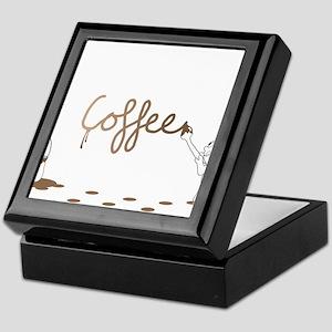 Cute Drip Guy Painting Coffee Keepsake Box