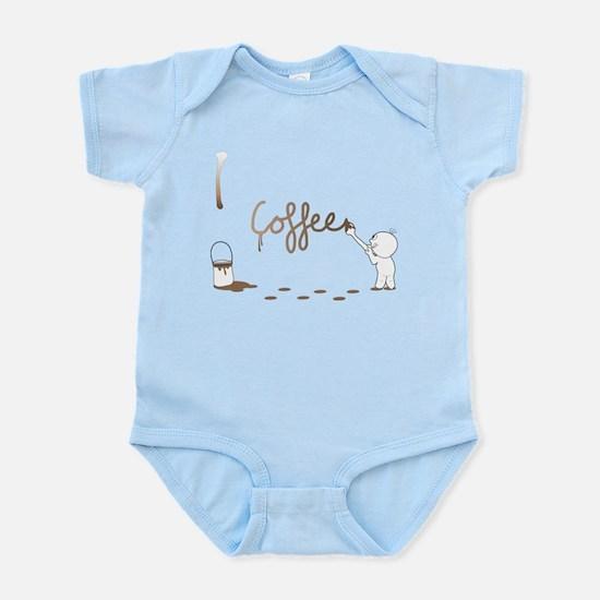 Cute Drip Guy Painting Coffee Infant Bodysuit