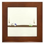Drip guy swimming Framed Tile