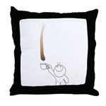 Drip guy catching drop in mug Throw Pillow