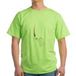 Drip guy catching drop in mug Green T-Shirt