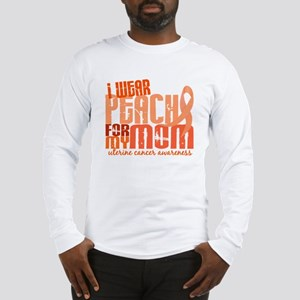 I Wear Peach 6.4 Uterine Cancer Long Sleeve T-Shir