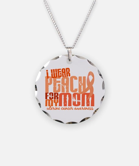 I Wear Peach 6.4 Uterine Cancer Necklace