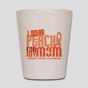 I Wear Peach 6.4 Uterine Cancer Shot Glass
