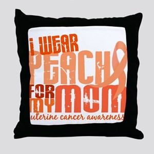 I Wear Peach 6.4 Uterine Cancer Throw Pillow