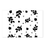 Black and White Leaf Silhouet Postcards (Package o