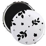 Black and White Leaf Silhouet 2.25