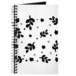Black and White Leaf Silhouet Journal