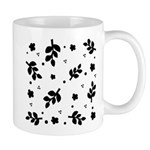 Black and White Leaf Silhouet Mug