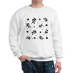 Black and White Leaf Silhouet Sweatshirt