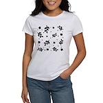 Black and White Leaf Silhouet Women's T-Shirt