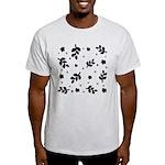 Black and White Leaf Silhouet Light T-Shirt
