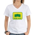 More Beer Women's V-Neck T-Shirt