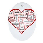 Words for Love in different l Ornament (Oval)