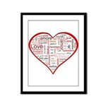 Words for Love in different l Framed Panel Print