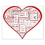 Words for Love in different l Small Poster