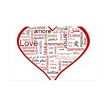 Words for Love in different l 38.5 x 24.5 Wall Pee