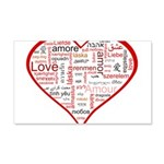 Words for Love in different l 22x14 Wall Peel