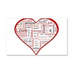 Words for Love in different l Car Magnet 20 x 12