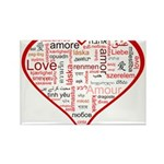 Words for Love in different l Rectangle Magnet