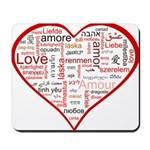 Words for Love in different l Mousepad
