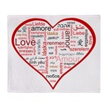 Words for Love in different l Throw Blanket