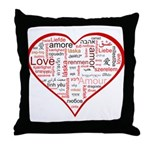Words for Love in different l Throw Pillow