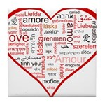 Words for Love in different l Tile Coaster