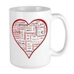 Words for Love in different l Large Mug
