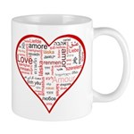 Words for Love in different l Mug