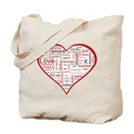 Words for Love in different l Tote Bag