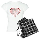 Words for Love in different l Women's Light Pajama