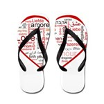 Words for Love in different l Flip Flops