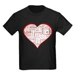 Words for Love in different l Kids Dark T-Shirt
