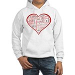 Words for Love in different l Hooded Sweatshirt