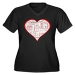 Words for Love in different l Women's Plus Size V-